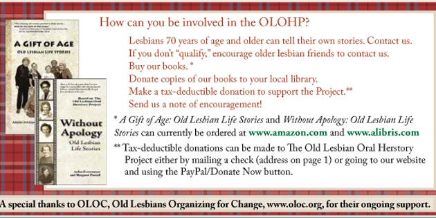 OLOHP Old Lesbians Herstory Project