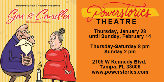 """Opening Thursday, January 28 … """"Gas & Candles"""" … a Humorous Yet Poignant Play About Hunger @ Powerstories"""