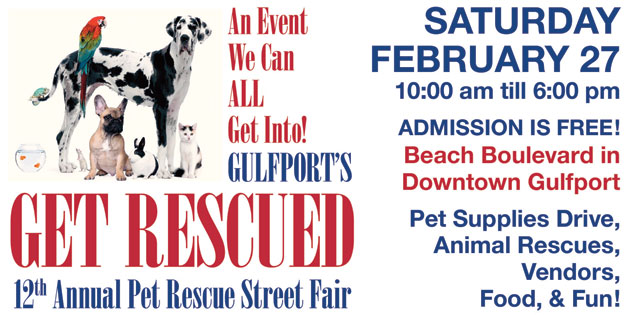 Mark Your Calendar for a Full Day of Gulfport's Get Rescued Events Saturday, February 27