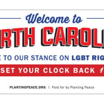 Planting Peace Plants Billboard on North Carolina Border in Response to State's Anti-LGBT Laws