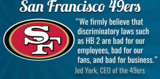 49ers Show Strong Support For LGBT Rights