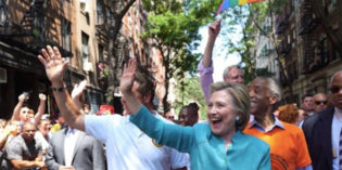 Hillary Clinton is First Presidential Nominee to March in NYC Pride Parade