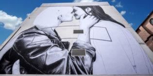 Belfast Women's Kiss Immortalized on Downtown Belfast Building