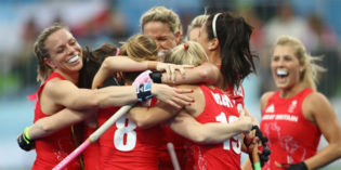 Olympic Gold Goes to Married Lesbians Playing Field Hockey Together