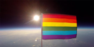 Planting Peace Sends Rainbow Flag Into Outer Space