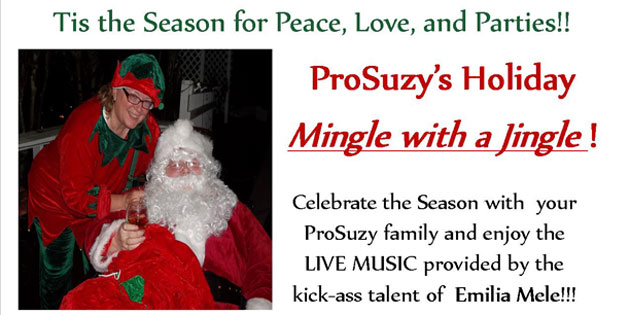 Tis the Season for Peace, Love and Parties! ProSuzy's Mingle with a Jingle December 19