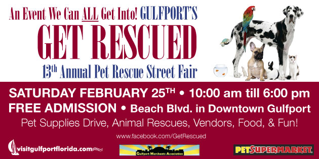Mark Your Calendar for Gulfport's Get Rescued February 25