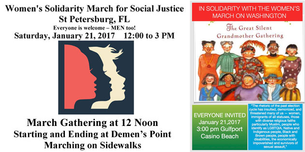 St Petersburg & Gulfport in Solidarity with DC Women's March