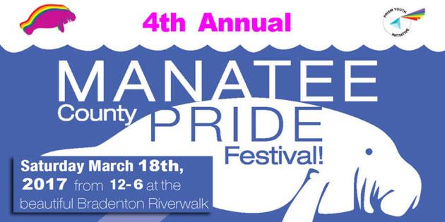 Pride Season Starts March 18 at 4th Annual Manatee Pride Festival