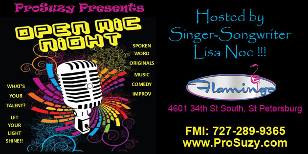 """VIDEO: ProSuzy """"Let Your Light Shine"""" Open Mic Goes on Despite Threatened Storms"""