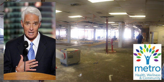 Charlie Crist Visits St Pete Metro Center Facility Monday, May 22