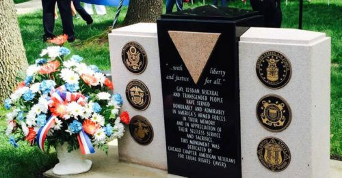 Chicago Unveils LGBTQ Veterans Monument on Memorial Day