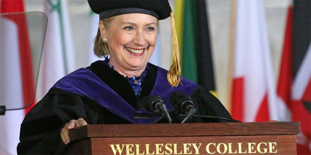 VIDEO: Hillary Clinton Calls Out Trump in Wellesley Commencement Address