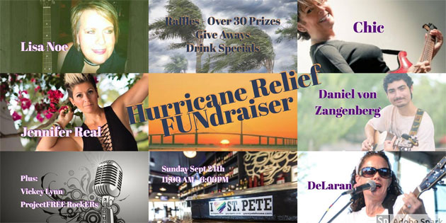 Hurricane Benefit Concerts This Weekend … St Pete & Madeira Beach