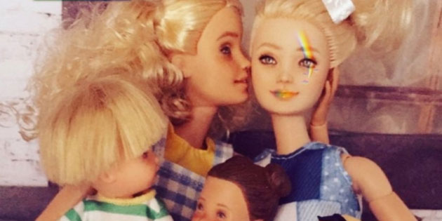 Australian Artist Creates Same Sex Barbie Family to Support Marriage Equality Campaign