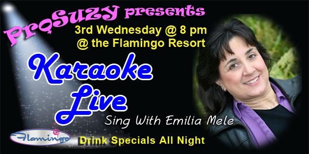 Mele's Back Hosting ProSuzy's Karaoke Live Wednesday, November 15 @ the Flamingo