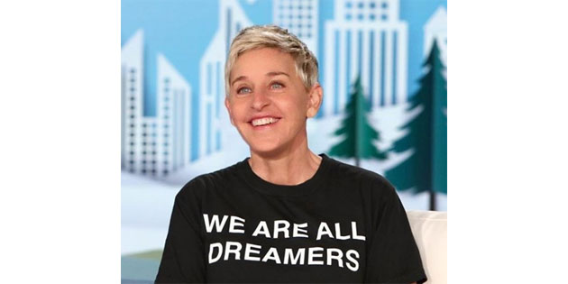 Ellen Posts Support for Dreamers