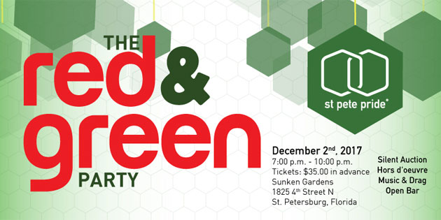 St Pete Pride's Red & Green Party – You Could Win Tickets!