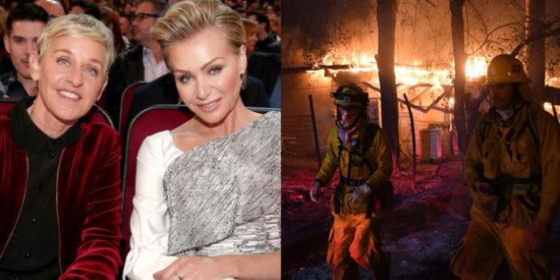 Ellen and Portia Evacuate Their Home as Wildfire Threatens