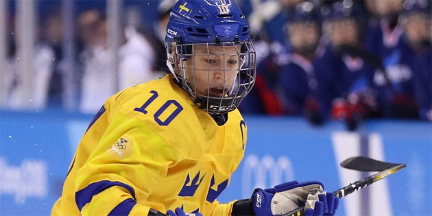 Out LGBTQ Hockey Player Leads Sweden's Team to Quarterfinals